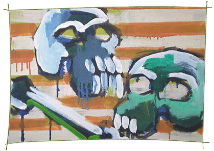 Picture Painting Markus Frings serie skull UN$ 4