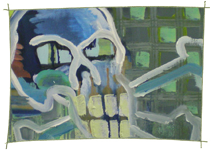 Picture Painting Markus Frings serie skull UN$ 7
